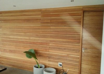 Wall Cladding with Garapa Wood