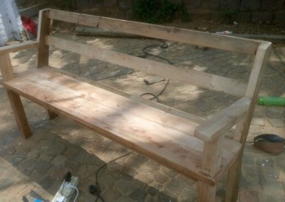 Wood 4 Seater Bench
