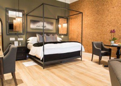 cork wall interior design project
