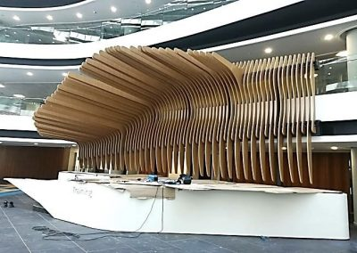 Discovery Head Office Sandton – Reatec Vinyl Film Applied to Sculptural Fins